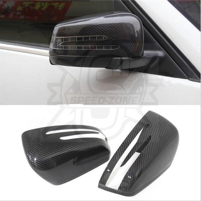ФОТО For Mercedes A B C E S GLK GLS Class W176 W246 W204 W207 W218 W212 W212 W221 Carbon Fiber Mirror Cover