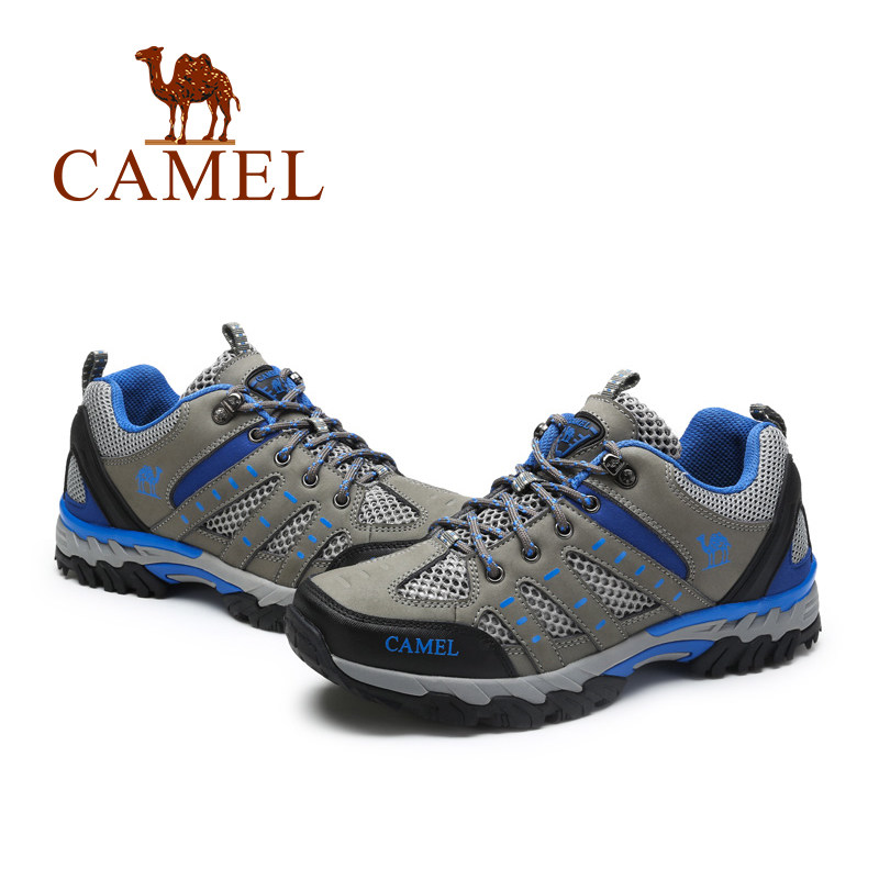 CAMEL New Outdoor Leather Mesh Hiking Shoes For Men Lightweight Antiskid Breathable Mountain Climbing Trekking Sneakers rax men s waterproof hiking shoes outdoor multi terrian mountain climbing backpacking trekking sneakers lightweight with gift