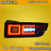 Car Styling for land rover Evoque taillight assembly 2012 2016 for Evoque rear light dedicated led taillight light with
