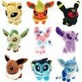 9pcs/lot Poke mon Figures Plush Toys Umbreon Eevee Espeon Jolteon Vaporeon Flareon Glaceon Leafeon Animals Stuffed Doll Toy