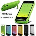Bienes 4000 mah caso del cargador de batería para iphone 5 5s 5c 5se cubierta de carga de alimentación externa