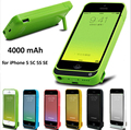 Verdadeiro 4000 mah carregador de bateria case para iphone 5 5s 5c 5se tampa de carregamento de alimentação externa