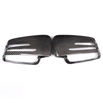 2X Real Carbon For Mercedes Benz A W176 B W246 C W204 E W212 Cla W117 Gla X156 Glk X204 Cls Class W218 Rear View Mirror Cap Co
