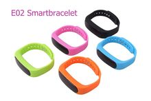 New Smart bracelet E02 Health fitness tracker Sport Waterproof Wristband for IOS Android flex Smart bracelet 4.0 Bluetooth Watch