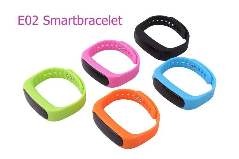 New font b Smart b font bracelet E02 Health fitness tracker Sport Waterproof Wristband for IOS