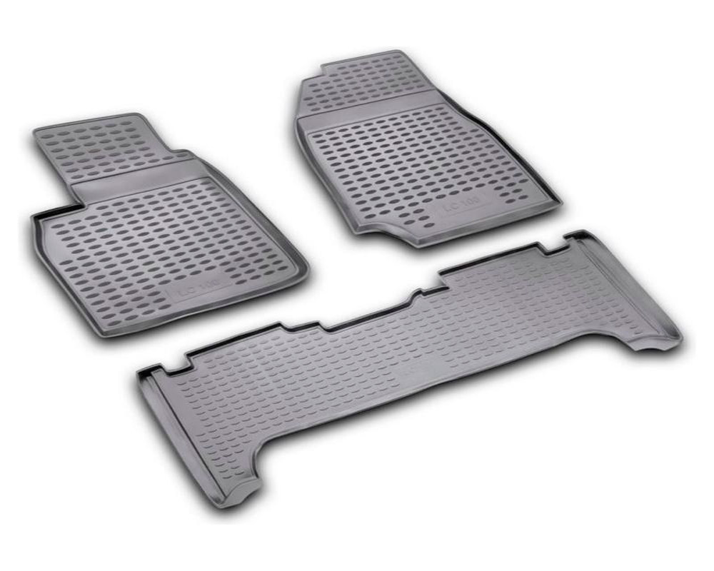 car floor mats for toyota land cruiser 100 1998 2007 high quality no odor rubber rugs non slip. Black Bedroom Furniture Sets. Home Design Ideas