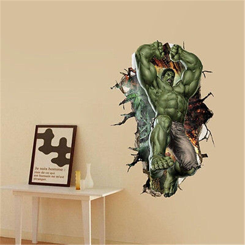 big hulk avengers 3d cartoon wall sticker mural vinyl decal baby boy