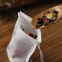 100 pçs/lote conveniente sacos de chá para puer verde flor chá folha filtros sacos de silicone ou caracol teacup clipe teaware descartável|Saquinhos de chá descartáveis| |  -