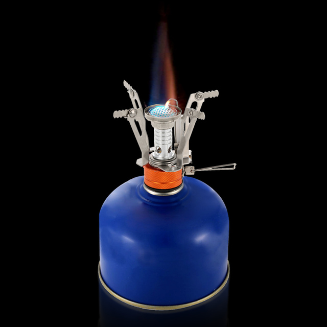 Lixada Super Lightweight Mini Pocket Cooking Burner Folding Camping Gas Stove 3000W Picnic Cooking Outdoor Stove