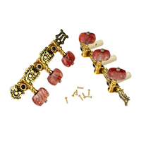 Amumu Acoustic Guitar Cổ Điển 3 Máy Heads Vàng Mạ L + R Bền Chuỗi Chỉnh với Giả Mã Não Đỏ Knob AO-020HV2P