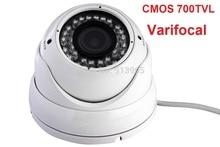 1/3″CMOS 700TVL ir outdoor wateroof varifocal 2.8-12mmm lens Dome analog camera ELP-C570VD