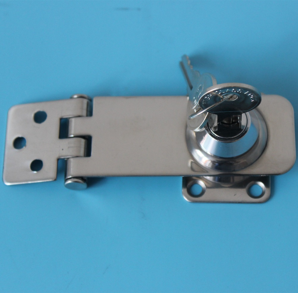 3 Quot 76mm Chrome Locking Hasp Gate Door Shed Garage Van