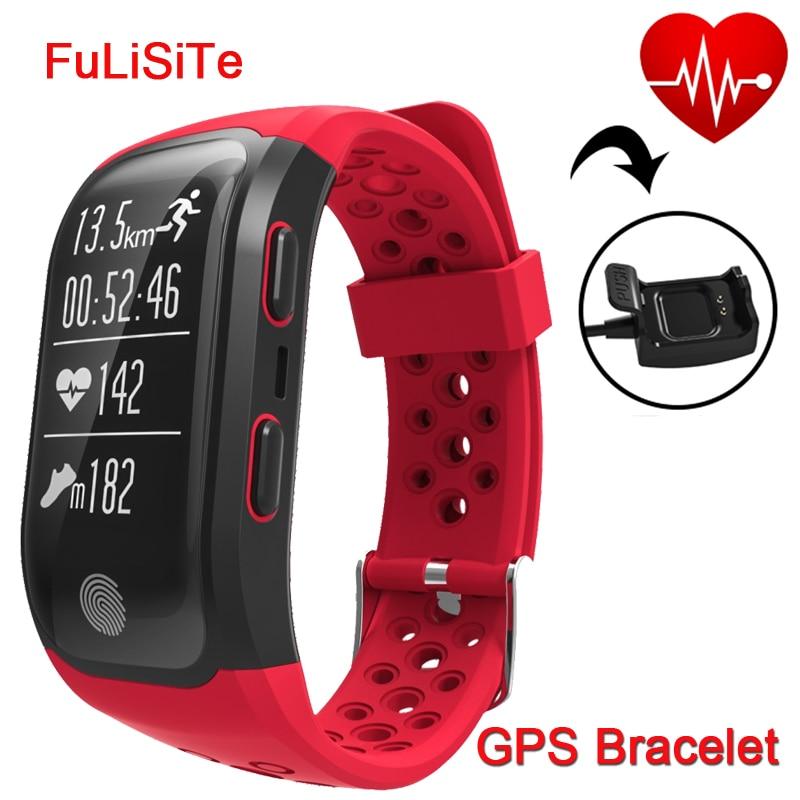 Best Фитнес браслет s908 GPS сна Мониторы сердечного ритма сотовый телефон браслет IP68 Водонепроницаемый Алам часы Smart Band для спорта плавать