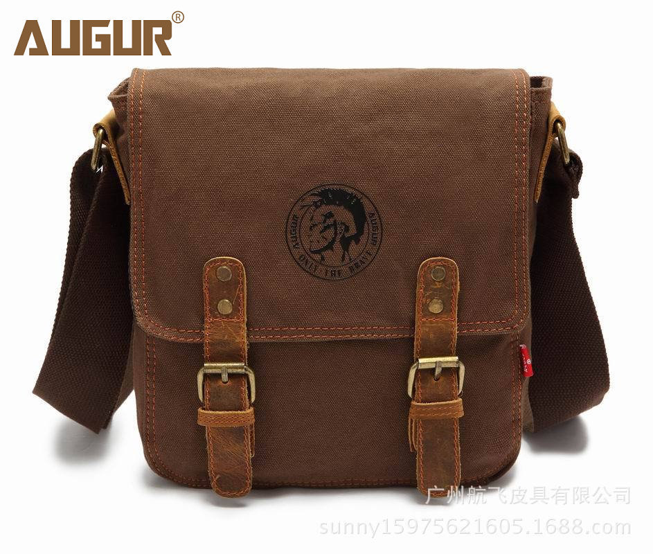 все цены на Thick canvas bag high quality men messenger bags fashion shoulder bags brand men bag