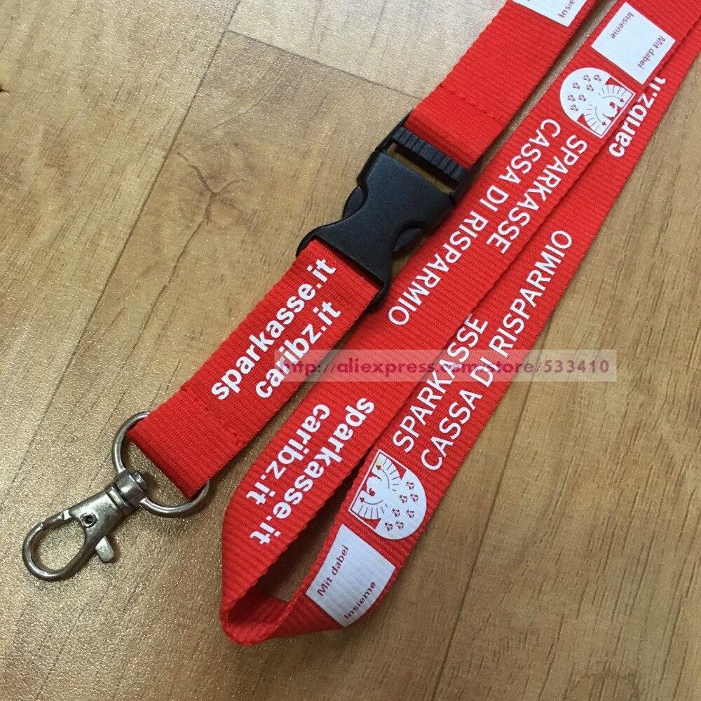 imágenes para 100 unids/lote DHL shiping libre cordón personalizado cordón de poliéster sublimado, cintas Personalizadas