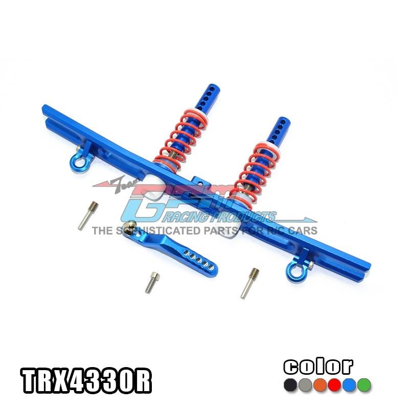TRAXXAS TRX-4 TRX4 82056-4 Rear bumper aluminium alloy spring unloading + U hook + trailer hook - set TRX4330R traxxas trx 4 trx4 82056 4 alloy adapters front rear all can use hex 17mmsix angle 19mm long set trx4 17x19 2