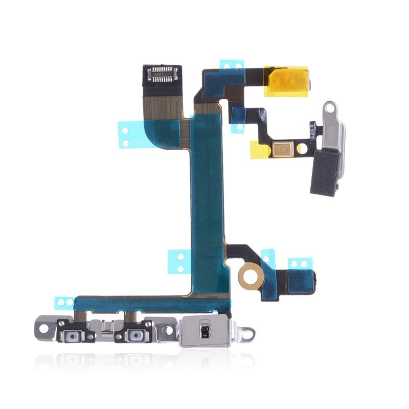 With Bracket Power Volume Button Flex Cable For IPhone 5se 5 SE IPhone5SE Flex Cable With Microphone Parts
