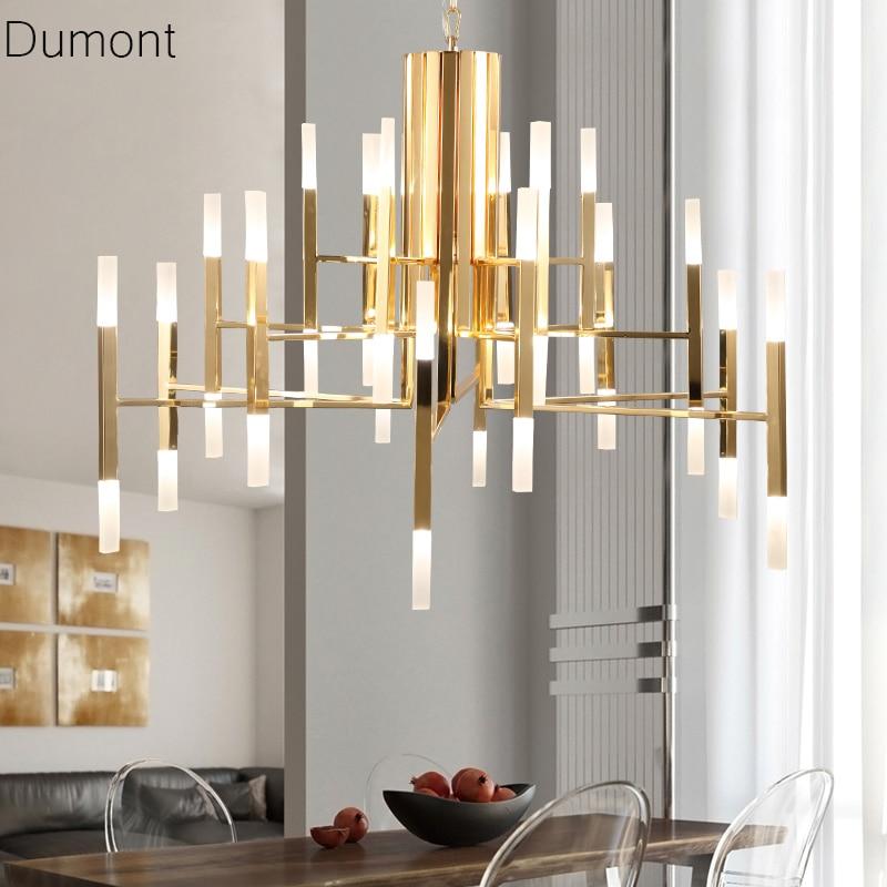 ALAM LED Pendant Lights Iron Postmodern Simple Black White Gold Art Deco Light Living Room Lamp 24 LT In From