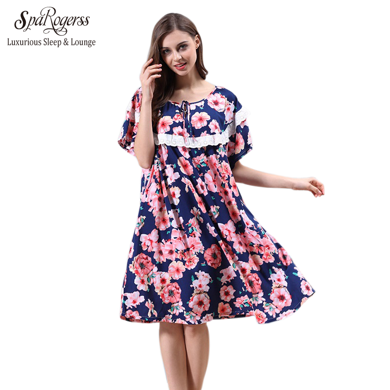 sparogerss plus size 5xl 6xl women nightgowns 2017 gift for mother