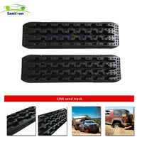 Pair Lantsun J268 Black Pp 10tons Recovery Traction Tracks For 4WD Sand Mud Snow Off Road