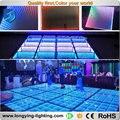 Free shipping 45pcs/lot 3d mirror led dance floor supplier 50cm*50cm dance floor size