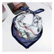 2019NEW Euro fashionable silk scarf women Multicolor printing quality neckerchief jersey for ladies foulard neck scarves