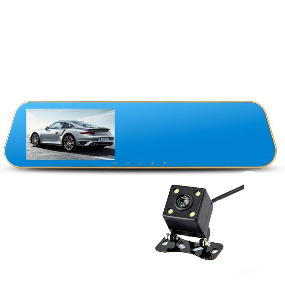 car DVR camera rearview mirror auto dvrs dual lens dash cam video registrator camcorder Full HD 1080p night vision цена