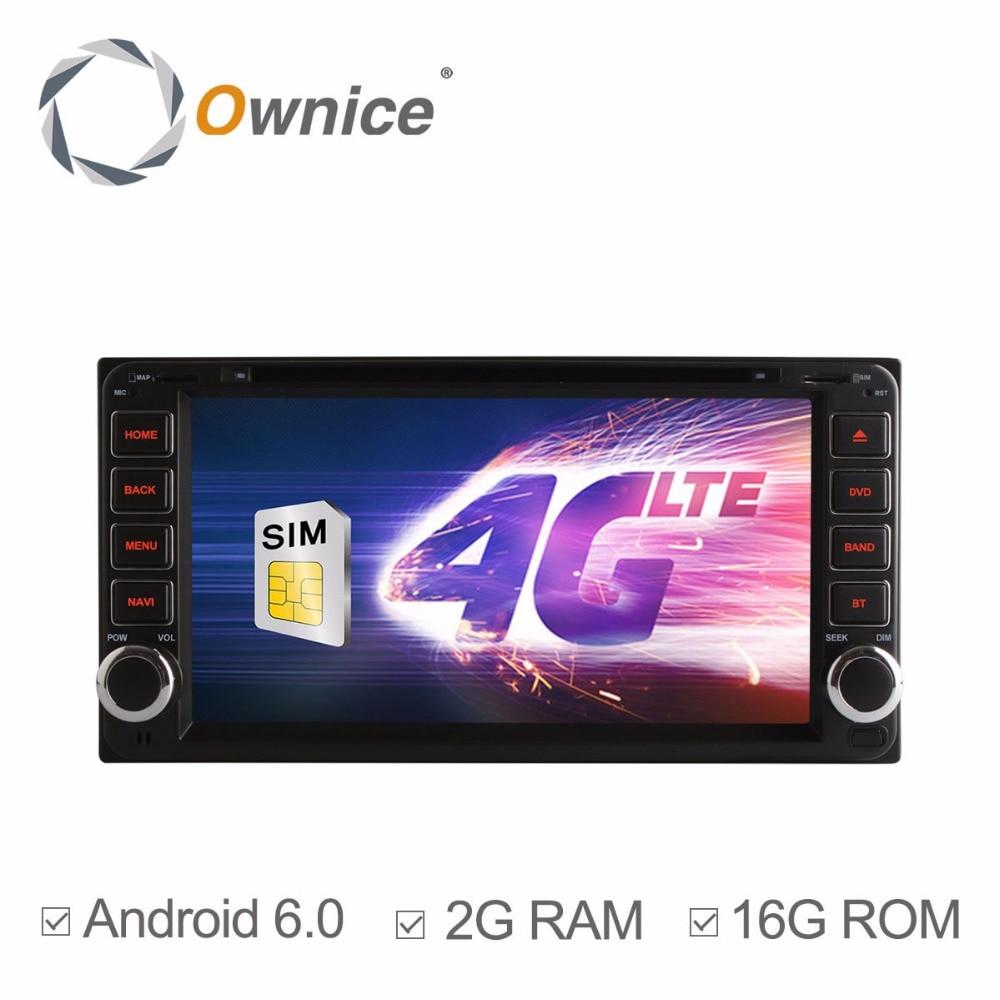 Android 6.0 Quad Core 2GRAM Car DVD Player For Toyota Crown Previa Tundra Sequoia Aversis Majority Matrix Cowry Stereo Radio GPS