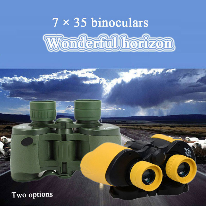 7X35 HD wide-angle Binoculars for travel hunting professional telescope high quality binoculars telescope Outdoor цена и фото