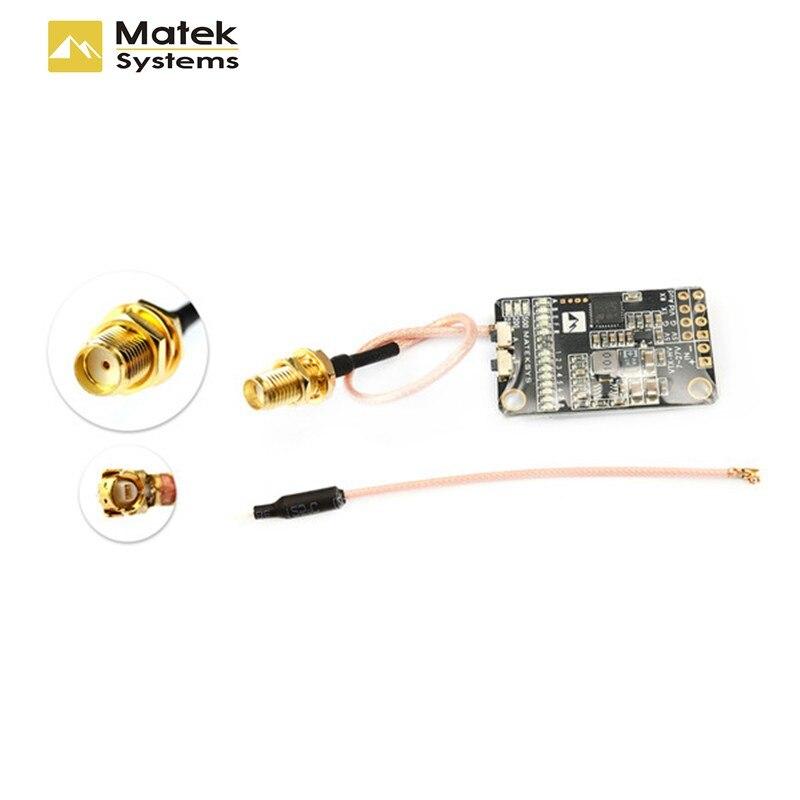 Matek 5,8G 40CH 25 mW/200 mW/500 mW transmisor de Video VTX-HV w/5 V /1A salida BEC para RC Quadcopter modelos de repuesto