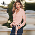 WomensDate 2016 Autumn Winter Large Size Women Long Sleeved V-Neck Blouses Shirt Femmes Chemise