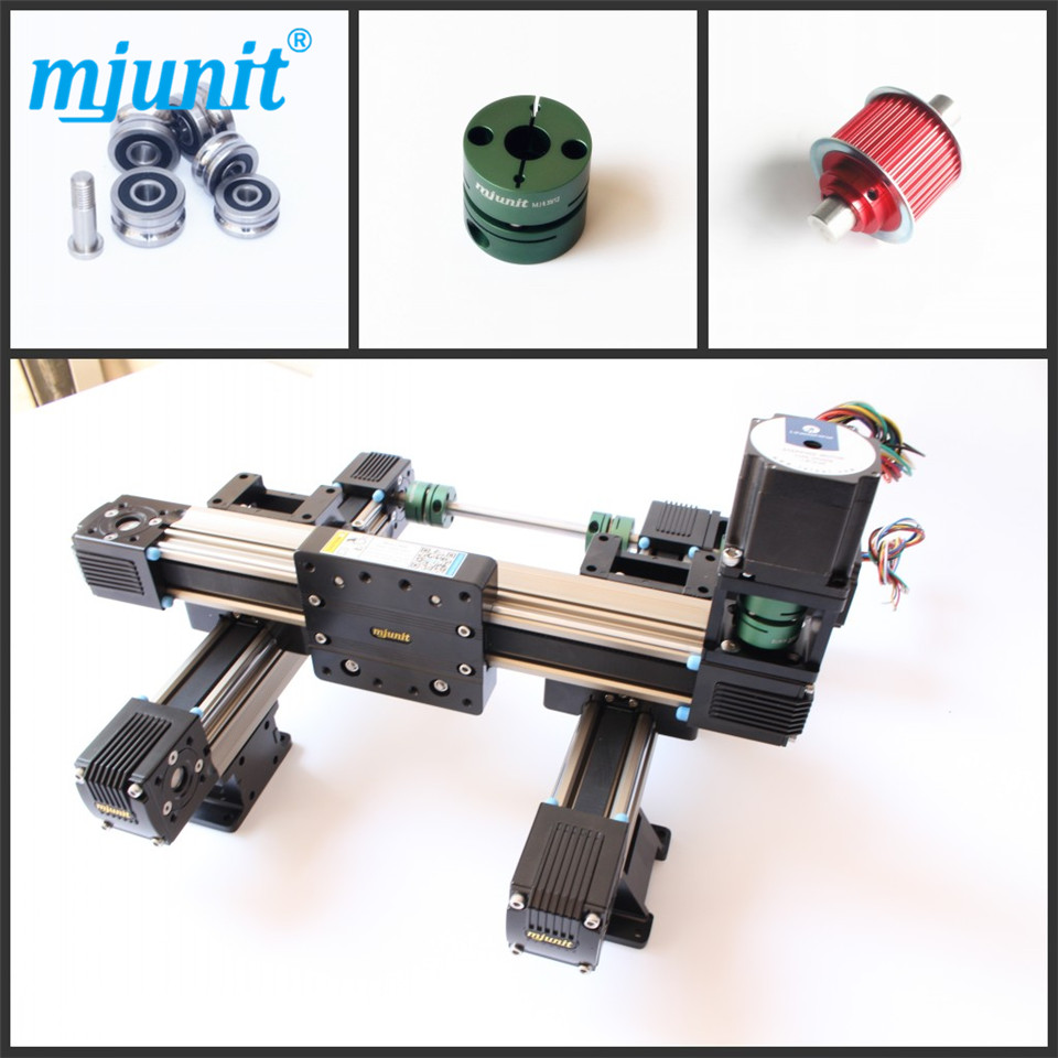 XYZ Motorized Linear Stage with 57 Stepper Motor Linear Rail Units motorized stepper motor precision linear rail application for labs