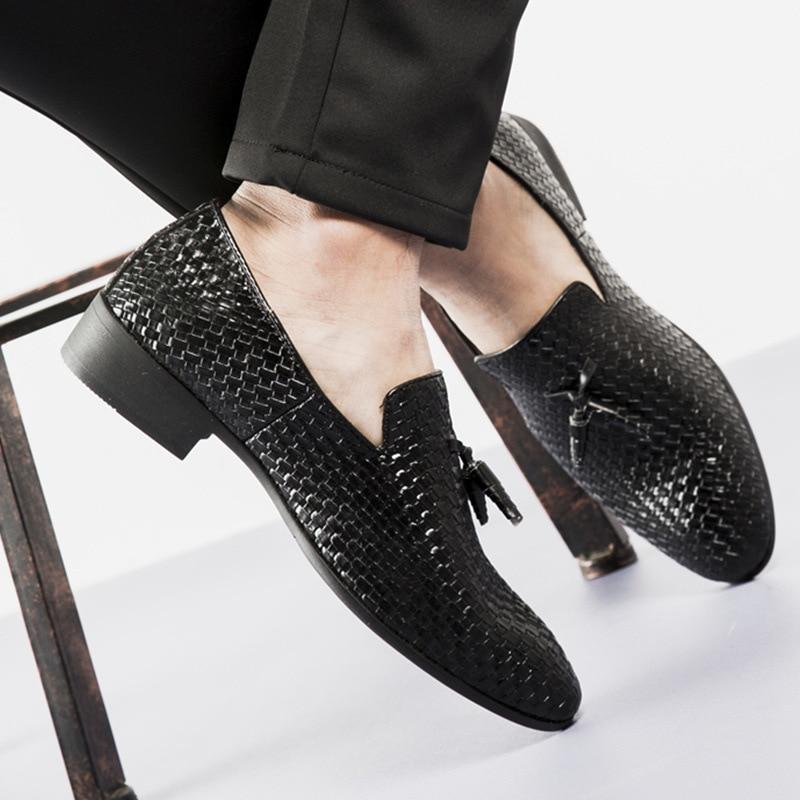 Vårhöst Läder Män Skor Plus Storlek Mäns Loafers Andas Slip-On - Herrskor - Foto 5