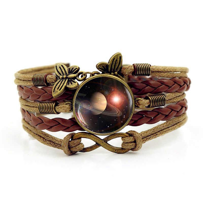 2018 новая психоделическая звезда время браслет с драгоценными камнями для мужчин Galaxy ручной вязки Orna мужчин ts браслеты для женщин ювелирные изделия подарки