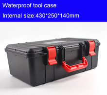 430x250x140mm plastic Tool case toolbox suitcase Impact resistant Instrumentation box Car storage box equipment camera case