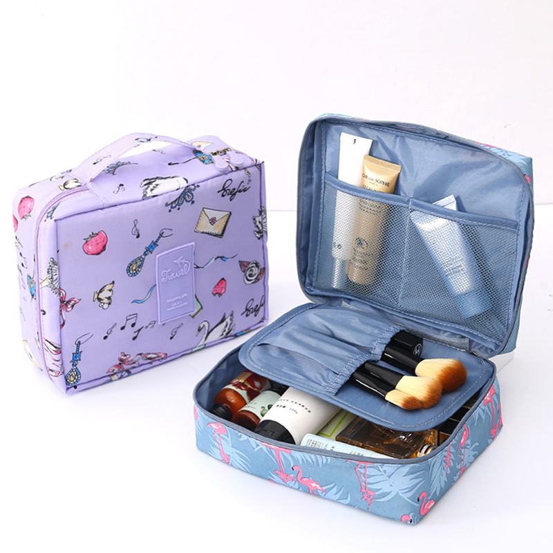 Brand Travel Women's Makeup Bags Men Female Cosmetics Cases Cosmetic Bag Portable Storage Wash Pack Travel Organizer Toilet Bags