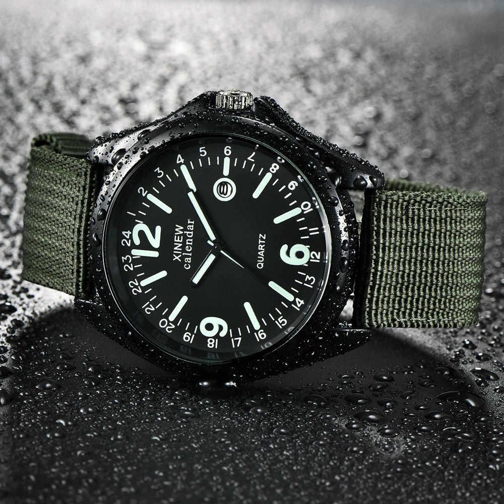 Military Herren Quarz Armee Uhr Schwarz Zifferblatt Datum erkek saat Sport Armbanduhr neue Uhren NEUE Herren Uhren Luxus Mode