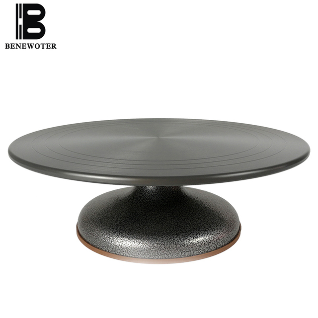 12 Inch Baking Cake Decorating Tools Turntable Aluminum Alloy Antiskid Material Cake Rack Rotary Anti-skid Turntable Stands