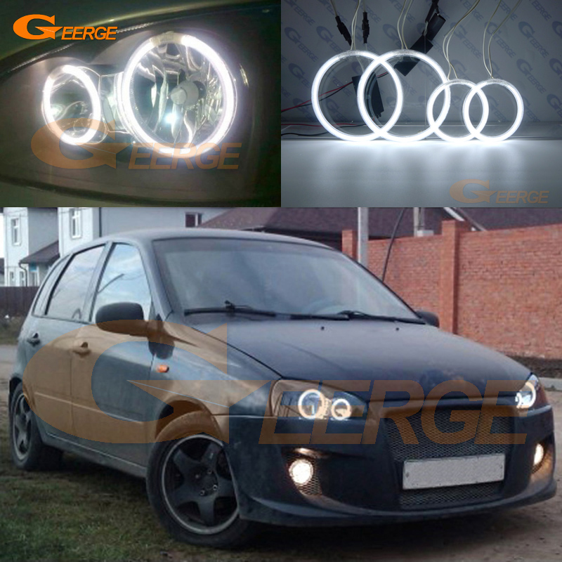 For Lada Kalina 1 1119 1118 1117 119 117 2005-2013 Excellent Angel Eyes Ultra bright illumination CCFL Angel Eyes kit Halo Ring бумажник can promise 119 1 119