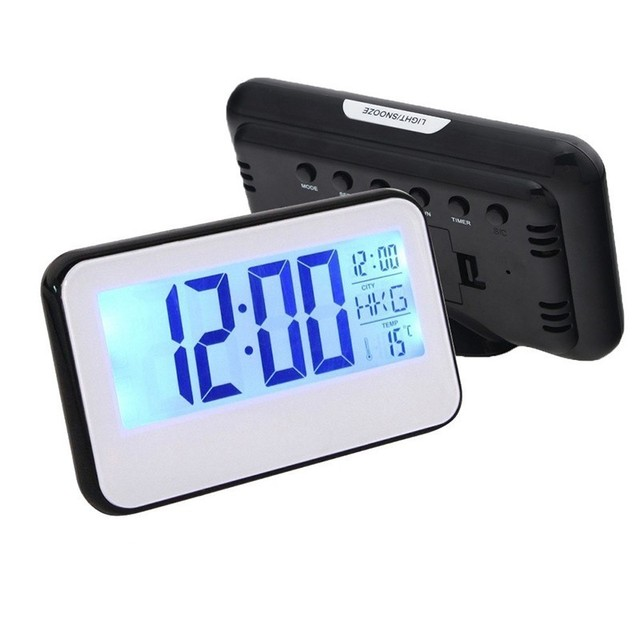 JULY'S SONG LED Alarm Clock Digital Table Clock Night Light Voice Control Temperature Electronic Despertador Snooze Desk Clock