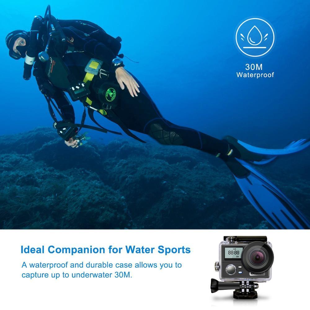 Double écran Ultra HD 4 K Action caméra 16MP 1080 P Sport caméra Wifi télécommande aller plongée Pro étanche Sport DV DVR caméra - 3