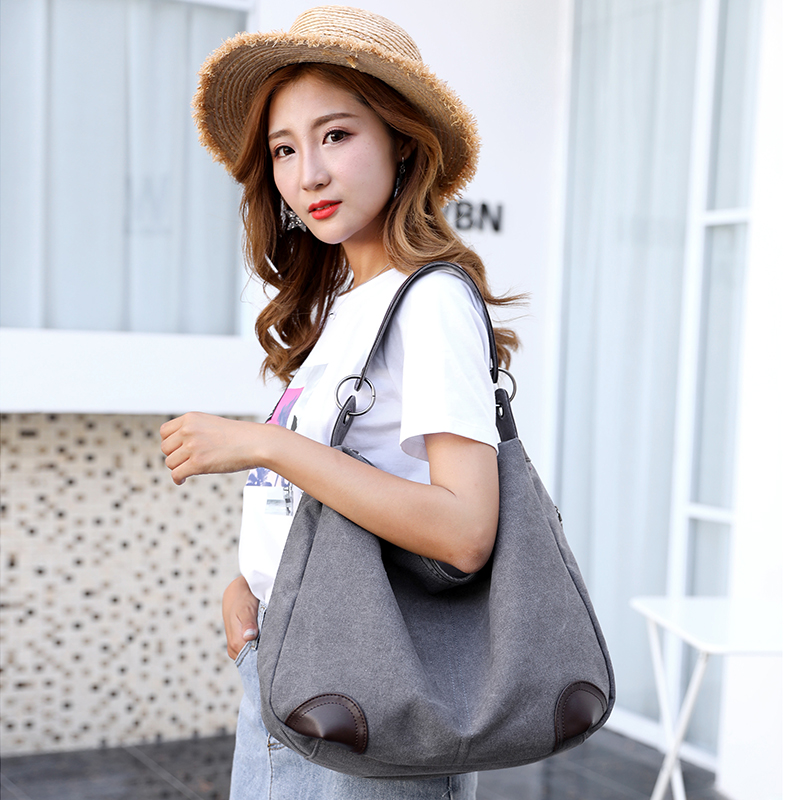 Canvas Bag Vintage Canvas Shoulder Bag Handbags Ladies Hand Bag Tote Bolsos Mujer Hobos Bolsas Feminina 2018