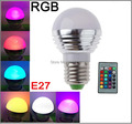 E27 GU10/E14 MR16 AC85-265V 3W RGB led lighting multiple 16 colour led bulb Family party lamps KTV Spotlight with Remote Control
