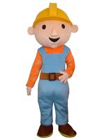 cosplay costumes Cartoon film Adult Bob the Builder mascot costume Bob the Builder mascot costume Free shipping