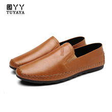 hot deal buy 2018 fashion anti-slip mens shoes outdoor loafers walking shoes men casual shoes soft slip on men leather shoes mocassin homme