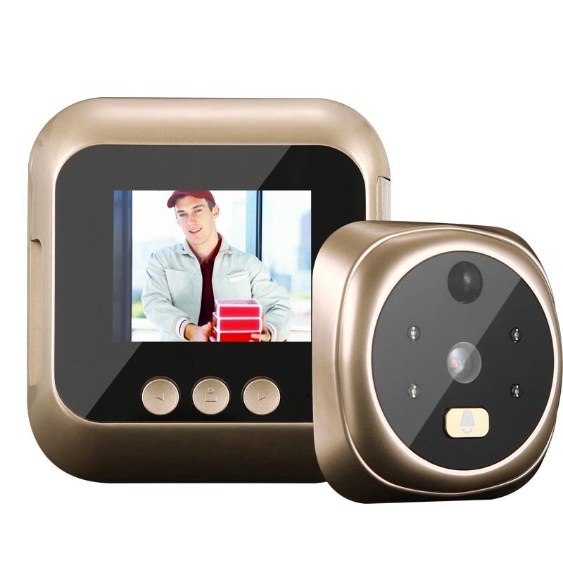 2.4 pouces TPS HD IR caméra judas visionneuse détection de mouvement 135 degrés oeil de chat sonnette Vision nocturne prise de Photo/enregistrement vidéo