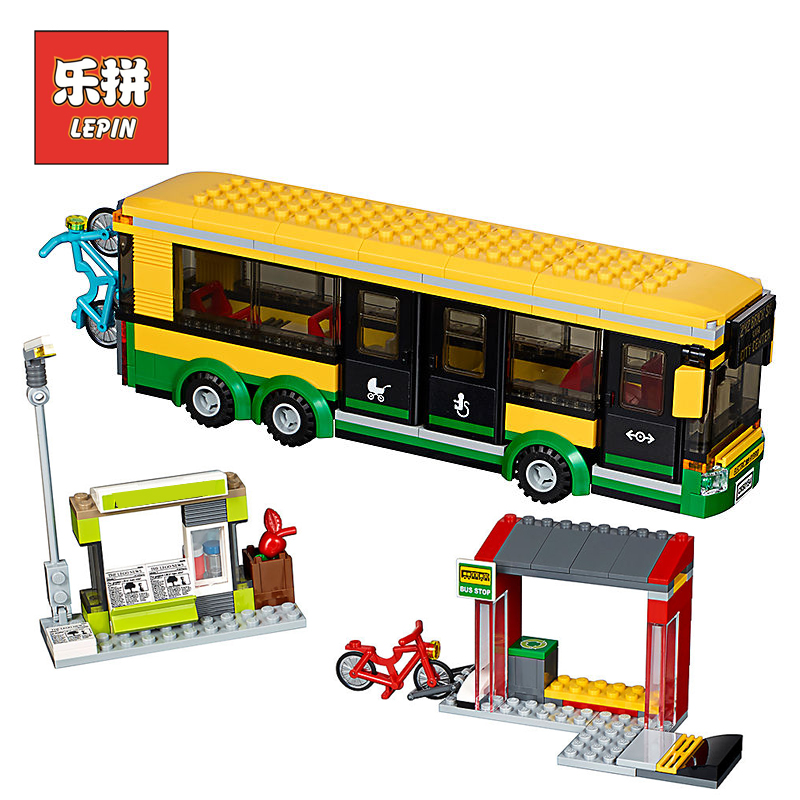 Lepin 02078 City Bus Station 60154 Model Building Kits Blocks Bricks 60154 Educational Enlighten Children Toy Birthday Gift senseit p3