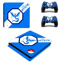 Pokemon GO Pikachu PS4 Slim Skin Sticker Decal Vinyl for Playstation 4 Console and 2 Controllers PS4 Slim Skin Sticker