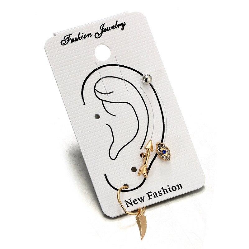 4pcs Women Fashion Vintage Boho Eye Arrow Horn Clip Earrings Leaves Ear Popular Lady Jewelry Party Gift Oorbellen Ear Cuff Clips in Clip Earrings from Jewelry Accessories
