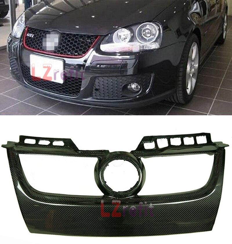 3 К Реальные углеродного волокна сетки переднего бампера Решетка Honeycomb гриль для VW Golf V GIT Гольф MK5 GTI Golf 5 GTI